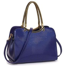 383d4fba58f8d Wyjątkowa torebka damska lakierowana niebieska - niebieski