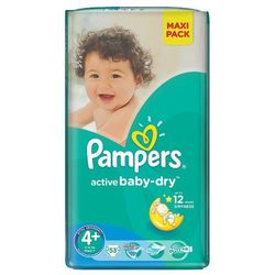 Pampers Active Baby-Dry roz. 4+ Maxi 53 szt.