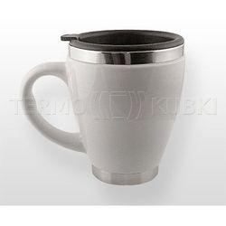 60a65342fee47e Ceramiczny kubek termiczny 450 ml CERIO (biały), kolor biały