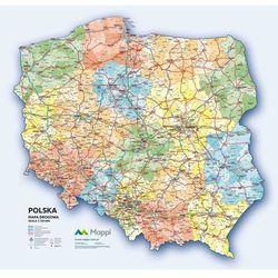 MAPA ŚCIENNA POLSKI 2016 - DROGOWA 1:750 000