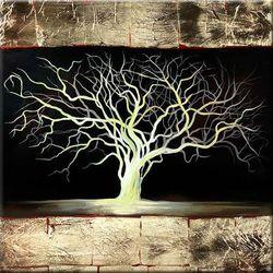 """obrazy nowoczesne """"drzewko szczęścia"""" ręcznie malowane w technice strukturalnej na podkładach 3D 80x80cm rabat 10%"""