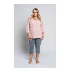 04031ebdbb68e1 Italian fashion Piżama z rekawem 3/4 otylia - łosoś