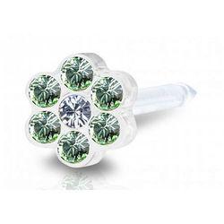 Blomdahl daisy peridot / crystal 5 mm