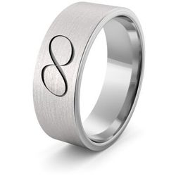 Obrączka srebrna nieskończoność - wzór Ag-386