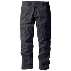 Bonprix Spodnie bojówki z powłoką z teflonu regular fit straight antracytowy