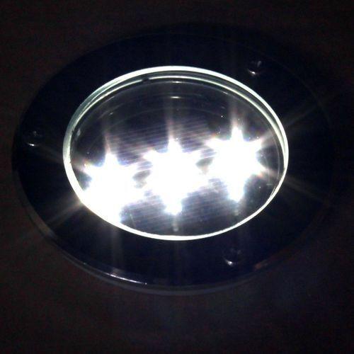 Metalowa Lampa Solarna 3xled Najazdowa Do Zabudowy
