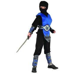 Kostium Ninja niebieski lux - S - 110/120 cm