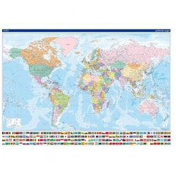 Mapa polityczna - Świat, 2 arkusze
