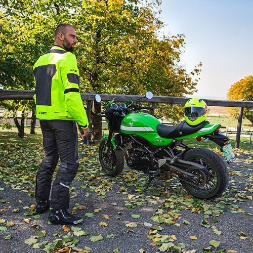 Buty motocyklowe, Skórzane buty motocyklowe W-TEC Hernot W-3015, Czarny-fluo żółty, 44