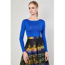 Bluzka z długim rękawem Vares Cobalt - Click Fashion