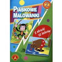 Kolorowanki, Piaskowe malowanki - hipopotam, małpa ALEX