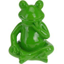 Ozdoba ogrodowa Zielona Żaba - wys. 14 cm