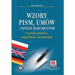 Wzory pism, umów i innych dokumentów w języku polskim, angielskim i niemieckim - Wysyłka od 3,99 (opr. miękka)