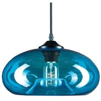 Lampy sufitowe, Lampa wisząca London Loft 3 niebieska