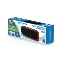 Głośnik Bluetooth FM Folk czarno-czerwony