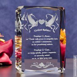 Pamiątka Ślubu »Gołąbki Miłości« z Twoją dedykacją • GRAWER 3D