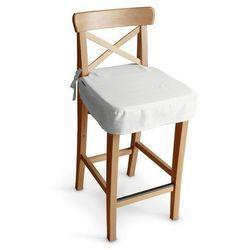 Dekoria Siedzisko na krzesło barowe Ingolf, biel, krzesło barowe Ingolf, Jupiter