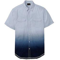 Koszula z krótkim rękawem w cieniowanym kolorze Slim Fit bonprix jasnoniebieski