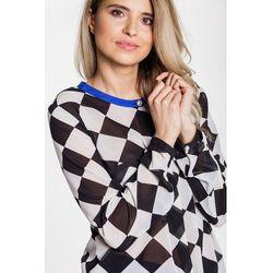Bluzka w geometryczne wzory - Deut Woman