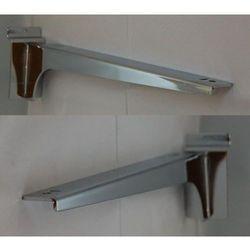 """Para (prawy + lewy) wsporników dł. 35cm pod półkę, na panel typu """"space wall"""" - chromowane"""
