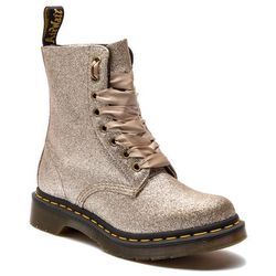 Glany DR. MARTENS - 1460 Pascal Glitter 24320714 Pale Gold