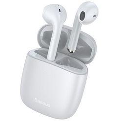 Baseus True W04 | Słuchawki bezprzewodowe bluetooth 5.0 z etui ładującym wodoodporne | biały - Biały