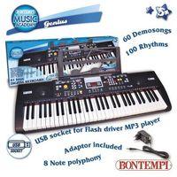 Instrumenty dla dzieci, Organy elektroniczne 61 klawiszy adapter gniazdo USB