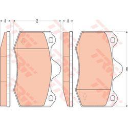 Zestaw klocków hamulcowych, hamulce tarczowe TRW GDB1852