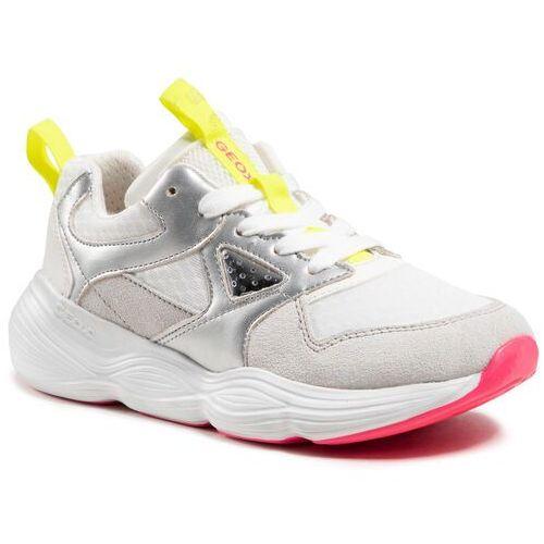 Damskie obuwie sportowe, Sneakersy GEOX - J Bubblex G. B J04CNB 01422 C0007 D White/Silver