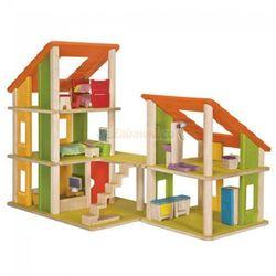 Piętrowy domek dla lalek z meblami