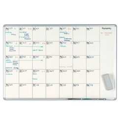 Tablica planer miesięczny ekoTAB, 100x70 cm, powierzchnia ceramiczna