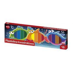 Plastelina kwadratowa 18 kolorów MONA