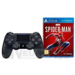 Sony DualShock 4 v2 (czarny) + Marvel's Spider-Man