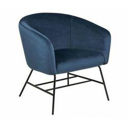 Niebieski fotel telewizyjny - Nerra 2X