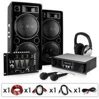 """Głośniki i monitory odsłuchowe, Electronic-Star Zestaw PA """"Block Party"""" głośniki mikrofony wzmacniacz 2000W"""