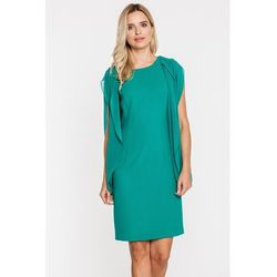 Zwiewna sukienka w kolorze butelkowej zieleni - Potis & Verso