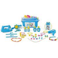 Pozostałe zabawki, Polesie Zestaw piękności Smerfetki, 55 elementów., niebieski, 1450640