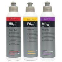 Pasty polerskie do karoserii, Koch Chemie Pasta Polerska H9 F6 M3 3x250ml zestaw
