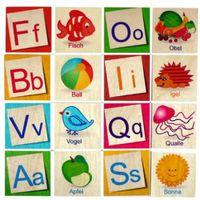 Gry dla dzieci, HESS Gra pamięciowa memo ABC 26 elementów