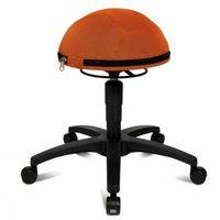 Fotele i krzesła biurowe, Krzesło dla zdrowych pleców HALF BALL - pomaranczowe