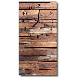 Zegar Szklany Pionowy Klasyczny Drewno drewniany brązowy