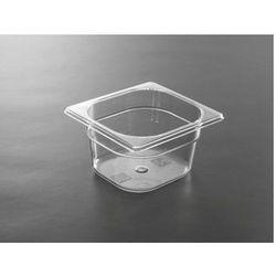 Pojemnik GN 1/6 z poliwęglanu | przeźroczysty | wys. 65 - 200mm