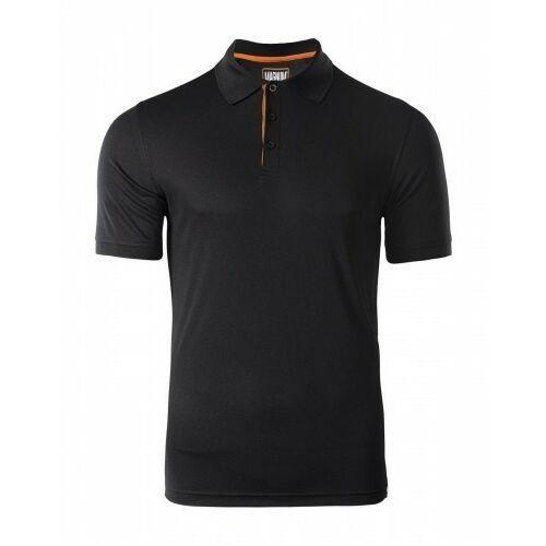 Męskie koszulki polo, MAGNUM Koszulka MĘSKA POLO BLACK Polówka roz. M