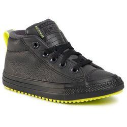 Sneakersy CONVERSE - Ctas Street Boot Md 669328C Almost Black/Lemon Venom/Black