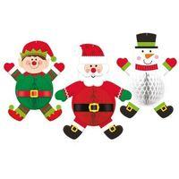 Ozdoby świąteczne, Dekoracje wiszące na Boże Narodzenie - 3 szt.