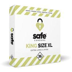 Prezerwatywy XL - Safe King Size XL Condoms 36 szt