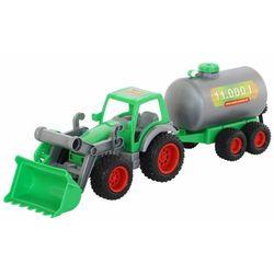 Farmer technik traktor-ładowarka z cysterną