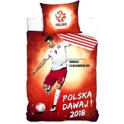 Pościel Piłkarska 160x200 PZPN Lewandowski piłka