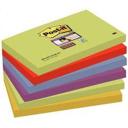 Karteczki POST-IT Super sticky (655-6SS-MAR), 127x76mm, 6x90 kart., paleta marrakesz