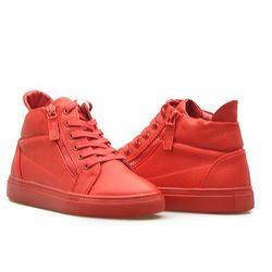 Sneakersy Sergio Leone 30022 Czerwone lico